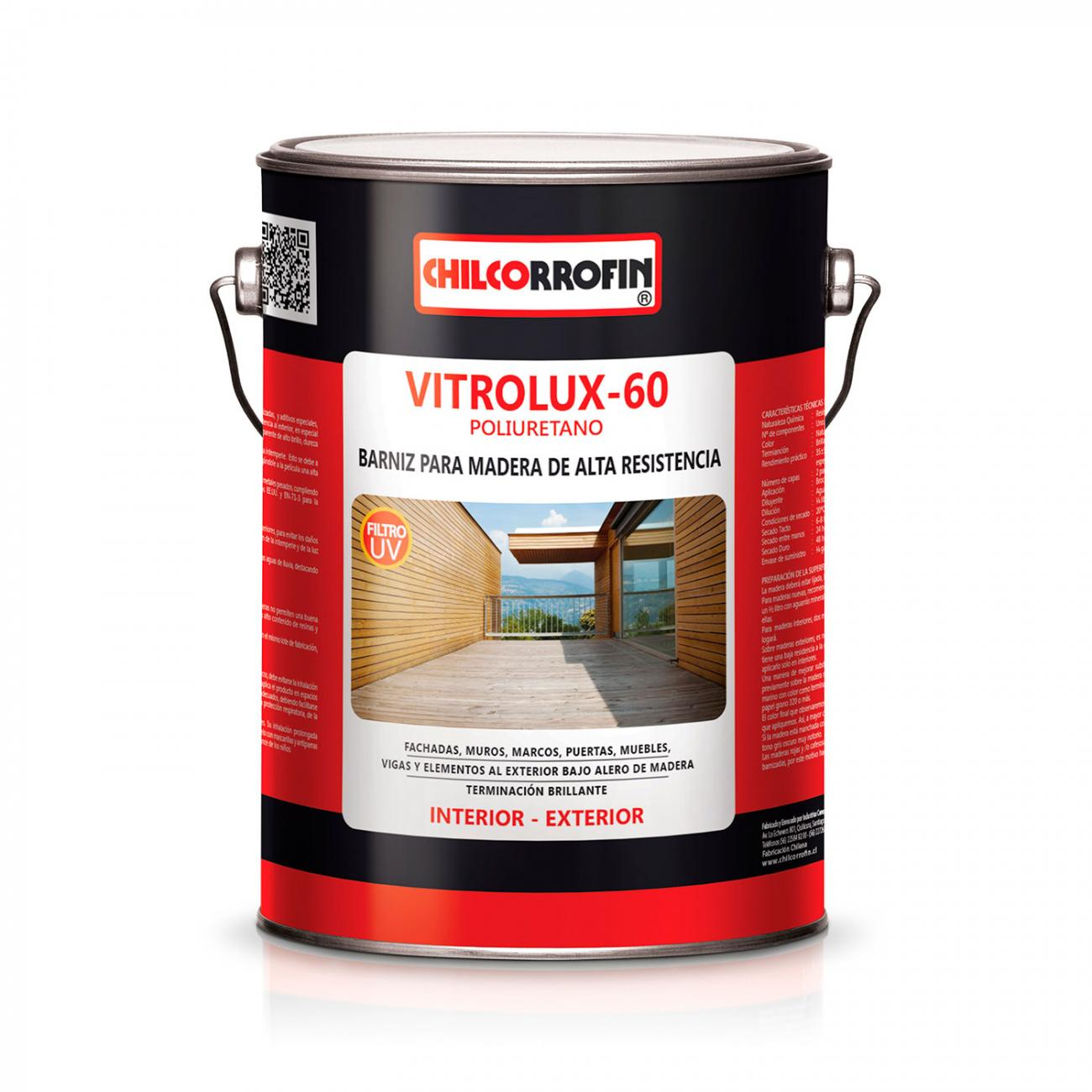 Vitrificante Madera Vitrolux 60 Natural 1/4 Galon Chilcorrofin